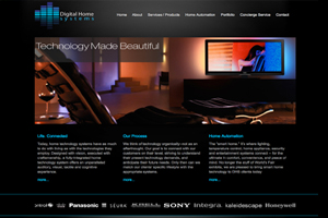 Website for Custom Home Theater Company in NY