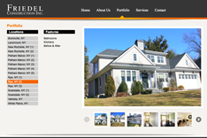 recent website design for General Contracting in NY